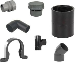 UPVC Waste Solvent Weld Fitting-Access Plug,Coupler,Tee,Bend,Valve,Reducer,Clips