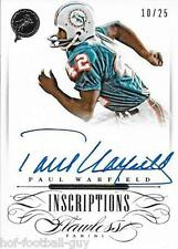PAUL WARFIELD SIGNED PANINI SILVER FLAWLESS INSCRIPTIONS CARD~10/25~HOF AUTO