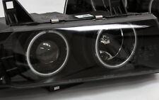 KLARGLAS G5 CCFL NEON ANGEL EYES SCHEINWERFER SET BMW E36 COMPACT SCHWARZ BLACK
