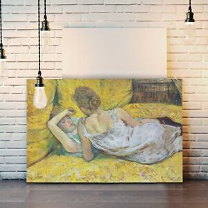 CANVAS WALL ART PRINT PAINTING FRAMED Henri Lautrec Abandonment Love French Lady