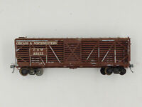 Ulrich HO Scale Chicago & Northwestern Metal & Wood Stock Car CNW 22877 ~ KDs