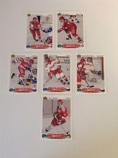 Lot Of 6 World Junior Tournament 91-92 Upper Deck Rookie Hockey-Kovalev-Kariya-