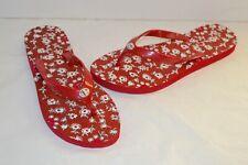 New Coach Abbigail Rubber Red/White/Pink Flip Flops/Sandal sz 8 Rare