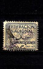 1467-SELLO VIÑETA GUERRA CIVIL 1938 REPUBLICA C.N.T. Y F.A.I.COMUNICACIONES.2 PT