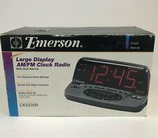 Emerson Large Display Am/Fm Clock Radio With Dual Alarms Nib Nos Rare