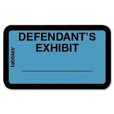 "Tabbies Tabbies Defendant's Exhibit Legal File Labels - 1.62"" Width X (tab58093)"