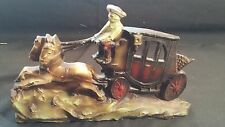 Antique Cast Iron Doorstop ~ Coach with Horseman and 2 Horses - Very Nice!