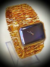 Very Rare! Vintage! OMEGA DeVille 18K Solid Gold Case & Band Wristwatch..!! # D