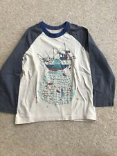 Boys Mini Boden Long Sleeved T Shirt 5-6 Years