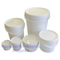 Plastic Buckets Tubs Containers with Tamper Evident Lids 0.5L 1L 3L 5L 10L 25L