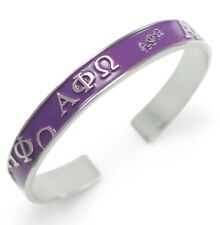 Alpha Phi Omega Bangle with raised letters with Purple enamel | APO NEW!