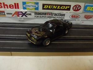 TYCO BLACK/GOLD GRILL 70's PONTIAC FIREBIRD TRANS-AM W/ HP-2 CHASSIS HO SLOT CAR