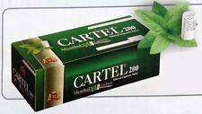 CARTEL 200 Empty cigarette tubes Carbon Filter- Menthol