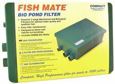 Fish Mate Compact bio Pond Filter Max Pond 1,000 Gallons - 500 Gph 1000 Gbio