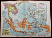 Japanese invasion of Dutch East Indies Indonesia 1957 map Strategic Plan 1942