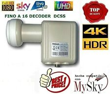 LNB SCR -  DCSS UNICABLE - HD 4K ALTA QUALITA' COMPATIBILE CON SKY
