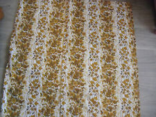 Vintage Retro Pair 60's / 70's Small Brown Curtains