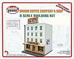 BROWN COFFEE COMPANY & COFFEE SHOP KIT 'N' Scale Model Power New Sealed 1592