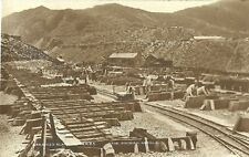 More details for greaves slate quarries the finished article c1910 real photo men stacking slate