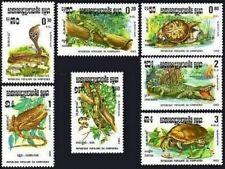 CAMBODGE Kampuchea N°400/406** Reptiles : serpent, tortue...1983, CAMBODIA MNH