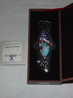VINTAGE AMERICAN MINT STATUE OF LIBERTY SOUVENIR FOLDING KNIFE IN CASE NICE!
