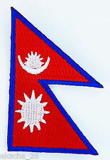 PATCH ECUSSON BRODE DRAPEAU NEPAL INSIGNE THERMOCOLLANT NEUF FLAG PATCHE