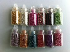 12 pots micro mini perle caviar nail art manucure strass