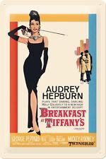 Audrey Hepburn Breakfast At Tiffanys 2 Blechschild Schild 20 x 30 cm *Angebot*
