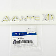 Genuine Hyundai Elantra Avante XD Emblem — OEM Trunk Emblem Badge *US SELLER*