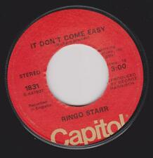 "Ringo Starr Beatles ""IT Dont Come Easy"" USA RARE Orange Label 1976-78 7"" vinyl"