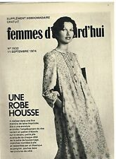 """Patron de Couture """"Femmes d'aujourd'hui"""" N°1532 Une Robe Housse Taille 38"""