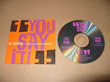 Al Green You Say It Raw Rare And Unreleased cd13 tracks 1990 Near Mint Condition