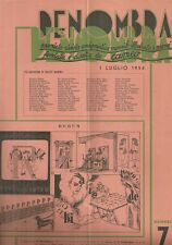 Penombra Premiata Rivista Enigmistica Mensile Illustrata a Premi Luglio 1954