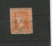 Queen Victoria One Penny Perfins Great Britain Briefmarken Sellos Timbres