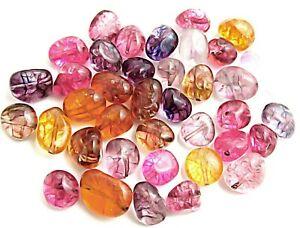 Gemstone For Jewelry Loose Tourmaline Gemstone 3 Pieces Watermelon Tourmaline Smooth Slice Uneven Shape Natural Loose Gemstone Plain