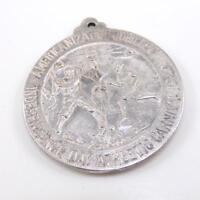 Vintage 1920 Sterling Silver Antique New York Baseball Sport Medal Pendant LDJ6