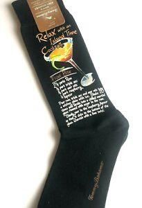 TOMMY BAHAMA Mens Mid Calf Socks Island Time Cocktail Fine Hosiery One Size