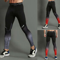 Men's Leggings Fitness Pants High Elastic Quick-drying Breathable Sport Trousers