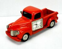 Die Cast Pickup Truck Desk Clock, Timex/Waterbury Clock, Japan Quartz Movement