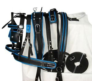 HORSE NYLON DRIVING HARNESS IN RED AND MORE IN FULL, COB, PONY, SHETLAND