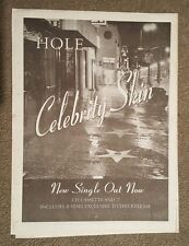 Hole Celebrity Skin  1998 press advert Full page 30 x 40 cm mini poster