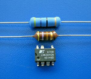 LNK304GN + Widerstand 47 Ohm 3W + HF Drossel 470µH Whirlpool, AEG, Bauknecht