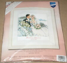 Vervaco Charleston Couple in Carriage / Wedding Record Cross Stitch Kit NIP