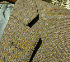 Vtg 60's Green Brown Tweed Hopsack Sack Sport Coat 38 S USA Ivy League 3/2 Roll