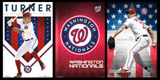 WASHINGTON NATIONALS BASEBALL 3-POSTER COMBO SET - Max Scherzer, Trea Turner, +