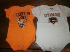 Lot of 2 Houston Dynamo MLS Soccer Futball Bodysuit Romper Toddler Baby 12m B162