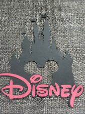 Disney castle  scrapbook page die cut