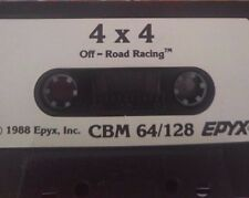 4 x 4 Off-Road Racing (Epyx) C 64 Cassette (Tape) (Game) 100% OK