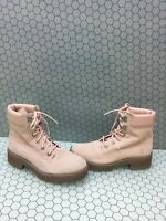 Timberland CARNABY 6 Inch Pink Suede Lace Up Ankle Boots Women's Size 9