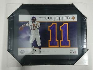 Upper Deck Jersey Numbers Collection Daunte Culpepper #11 Limited 88/135 Framed